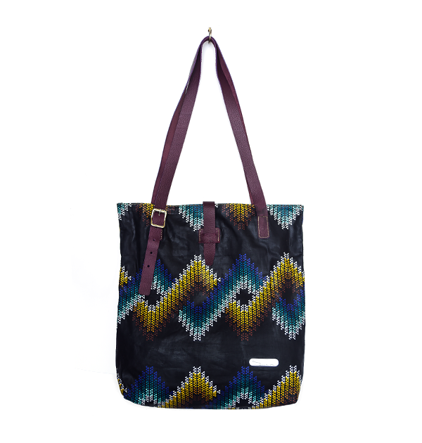 CITY TOTE. PRINT. MIX COLOUR