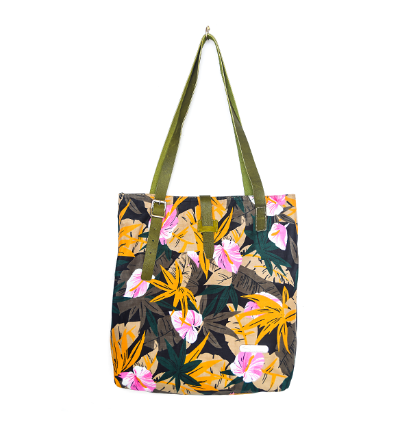 CITY TOTE. PRINT. FLORAL